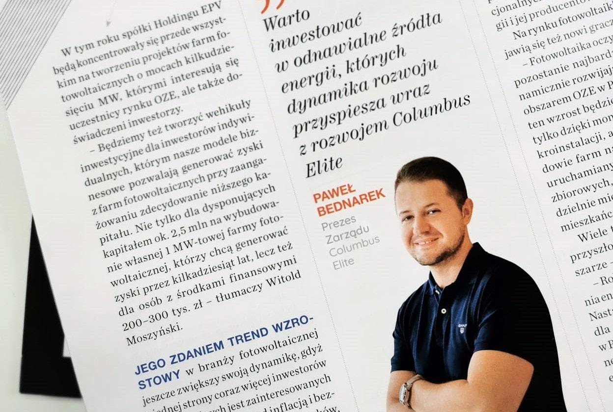 Columbus Elite w Forbes o przyszłości spółki
